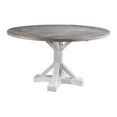 Alvarado Round Gathering Height Dining Table Antique White