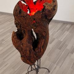 Lichtskulptur, Lichtobjekt, Skulptur Volcano
