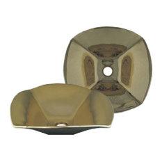 Whitehaus WH1515NDV-B Single Bowl Above Mount Bath Sink In Polished Brass