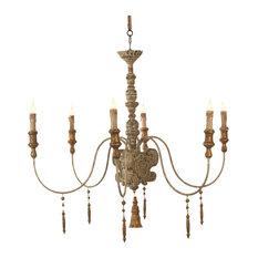 Italian chandeliers houzz european country italian 6 light grey wash chandelier chandeliers aloadofball Gallery