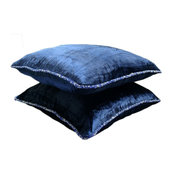 Solid Color 18x18 Velvet Navy Blue Throw Pillows Cover for Couch, Navy Shimmer