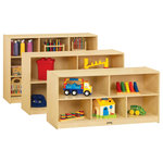 Jonti-Craft - Toddler Single Mobile Storage Unit - 18 Deep - Extra deep storage available in three heights.
