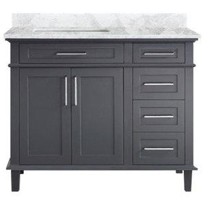 """Newport 42"""" Bathroom Vanity, Gray"""