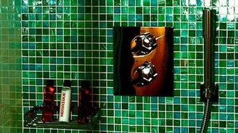 Mosaic Bath Tile in Shower