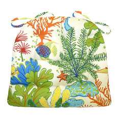 Splish Splash Indoor Outdoor Chair Cushion, Medium, Same Fabric Both Sides