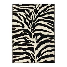 Animal Print Area Rug, 5x7, Zebra Skin
