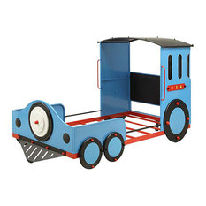 Tobi Train Bed, Blue, Red and Black, Twin