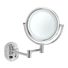 Wall Mounted Makeup Mirror With Lights wall-mounted lighted makeup mirrors | houzz