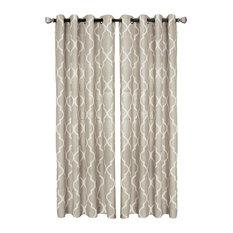 "Medalia Single Window Curtain, Linen, 52""x84"