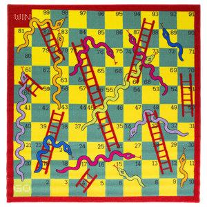 Snake and Ladder Rug, Multi, 133 cm Square