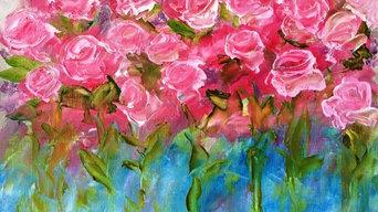 """""""Rosetum"""" oil on canvas"""