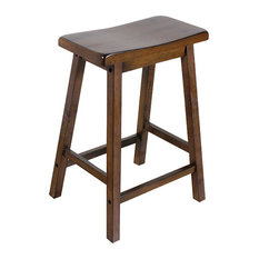 Acme Gaucho Counter Height Stools Set Of 2 Walnut