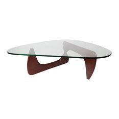 Midcentury Modern Arch Coffee Table, Black Ashwood, Ashwood/Cherry Stain