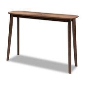 Baxton Studio Wendy Walnut Wood Console Table