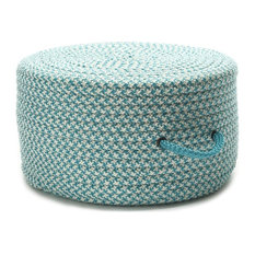 """Houndstooth Pouf Turquoise 20""""x20""""x11"""""""