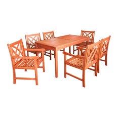 Outdoor Eucalyptus Rectangular Table