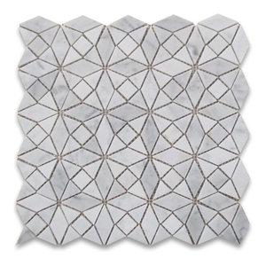 Msi White Tear Drop Glossy Mosaic Porcelain Tile