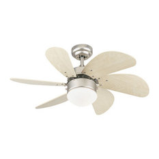 Westinghouse - Westinghouse Turbo Indoor Ceiling Fan, Brushed Aluminum - Ceiling Fans