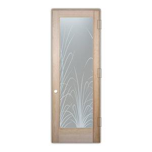 Interior Glass Door Sans Soucie Art Glass Wispy Reeds Private