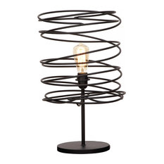 Urban Designs Coiled Iron Shade Table Lamp