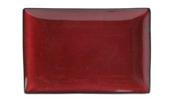 """Gibson Elite Soho Lounge Serving Platter, 12"""", Red"""