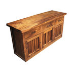 Salvaged Wood Printmaker S Sideboard Rustic Buffets
