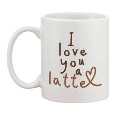 """""""I Love You a Latte"""" 11 oz. Coffee Mug"""