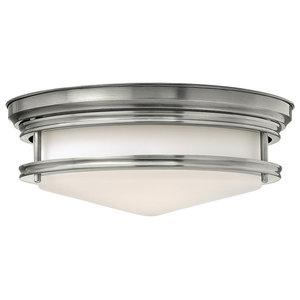 Hadley 3-Light Flush Ceiling Light, Antique Nickel