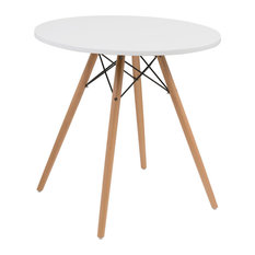 """Emerald Home - Emerald Home Annette Table, White Top, 27.5"""" - Dining Tables"""