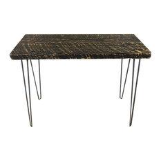 Barn Wood Console Table Hairpin Leg Reclaimed Wood 12x36x30 Antique Oak