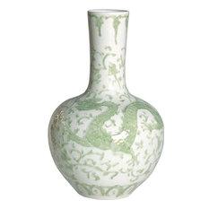Vase Lotus Dragon Flower Globular Round