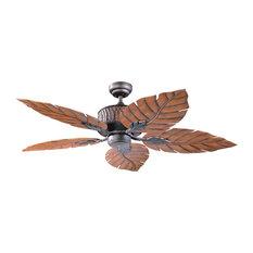 "Fern Leaf 52"" Indoor/Outdoor Oil Rubbed Bronze Ceiling Fan"