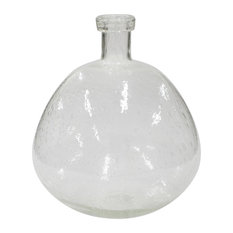 "Ridley 14"" Tall Bubbled Glass Vase"