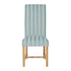 Striped Greenwich Dining Chair, Duck Egg