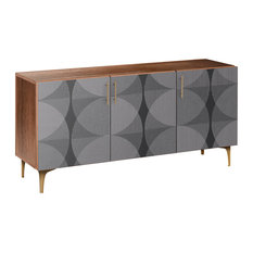 Smokescreen Arc Sideboard Walnut/Brass