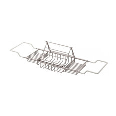 Cheviot Products Bathtub Caddy With Reading Rack, Brushed Nickel