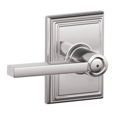 Schlage F40-LAT-ADD Addison Latitude Privacy Door Lever Set, Polished Chrome