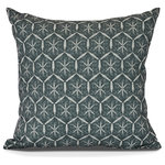 "E by Design - Tufted, Geometric Print Outdoor Pillow, Green, 20"" x 20"" - Liven up your outdoor fall decor with trendy designs from E by Design! The Goals, Gourds, and Gatherings collection contains an assortment of bold and refreshing designs ready to enhance any outdoor space!"