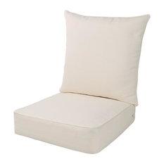 Indoor Outdoor Deep Seat Cushion Set, Beige