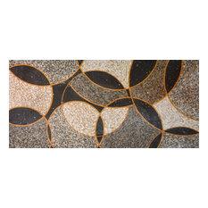 "Mozaico - Marble Mosaic Patterns, Geometric Floral Pattern, 31""x67"" - Tile Murals"