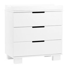 BabyLetto Modo 3-Drawer Wood Changing Table with Tray in White