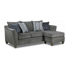 Lane Home Furnishings - Simmons Upholstery Albany Sofa Chaise - Sectional Sofas