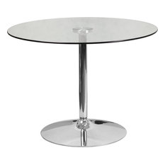 39.25-inch Round Glass Table