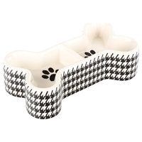 Houndstooth Bone-Shaped Bowl