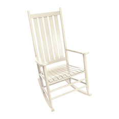 Asheville Wood Rocking Chair No. 907S Assembled, Antique White