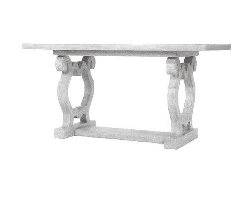 Scroll Leg Modern Desk, Pompeii Finish - Desks And Hutches