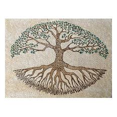"Mosaic Tile Art, Tree of Life, 44""x59"""