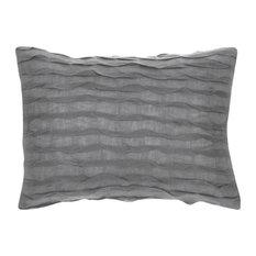 "Royal Ripples Pillow, Gray, 12""x16"""
