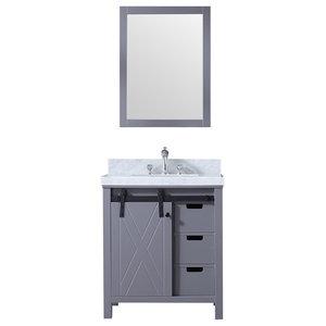 "Marsyas 30"" Vanity Cabinet Only, Dark Gray"
