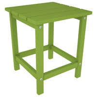 """POLYWOOD Long Island 18"""" Side Table in Lime"""